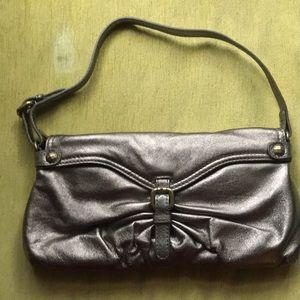 Kooba Bags - Bronze/pewter metallic leather handbag/clutch